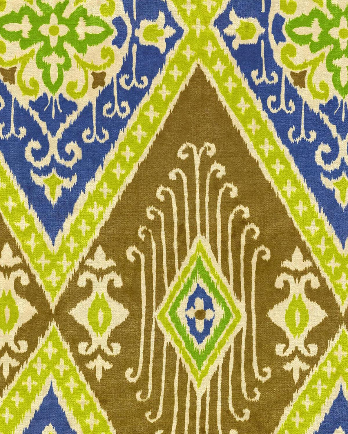 IMAN Home Print Fabric 54\u0022 Ikat Diamond/Lapis