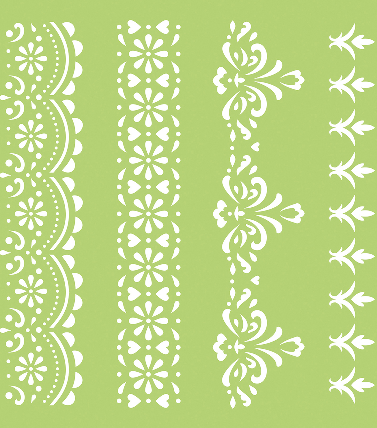 "Kaisercraft Designer Template 6""X6""-Lace Borders"