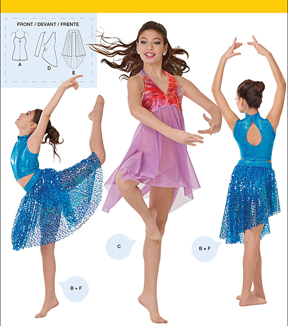 Simplicity Patterns Us1077Aa-Simplicity Girls' / Misses' Knit Dancewear-S-M-L