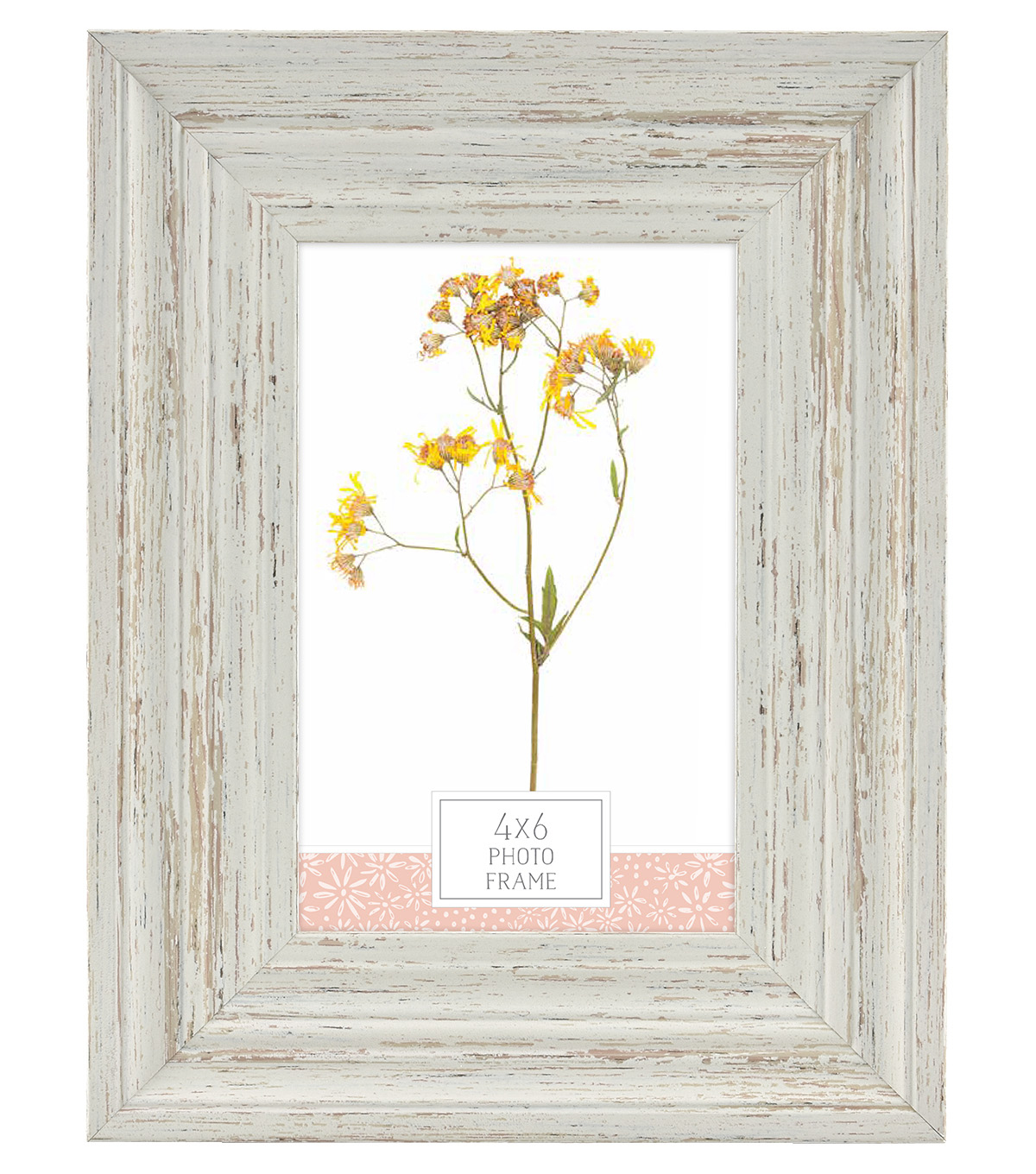 Plastic & Glass Picture Frame 4\u0027\u0027x6\u0027\u0027-Distressed Dark Sand