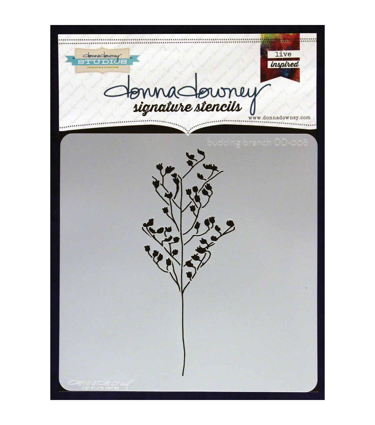 Donna Downey Signature Budding Branch Stencils
