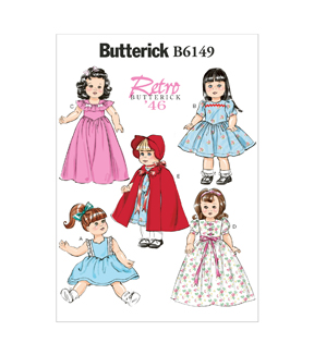 Butterick Crafts Doll Clothes-B6149