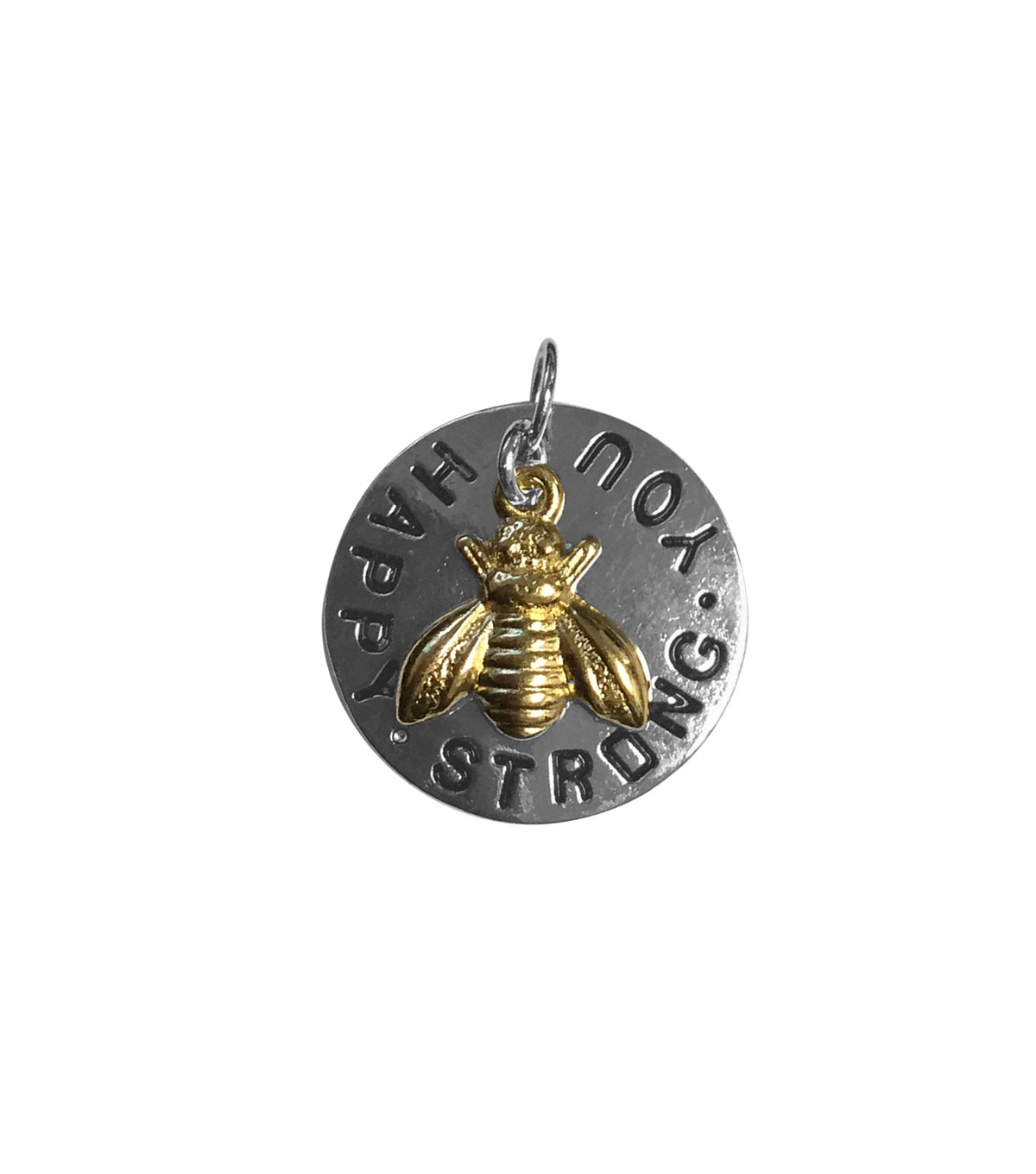 Blue Moon Beads Single Charm Bee Happy Silver with Gold