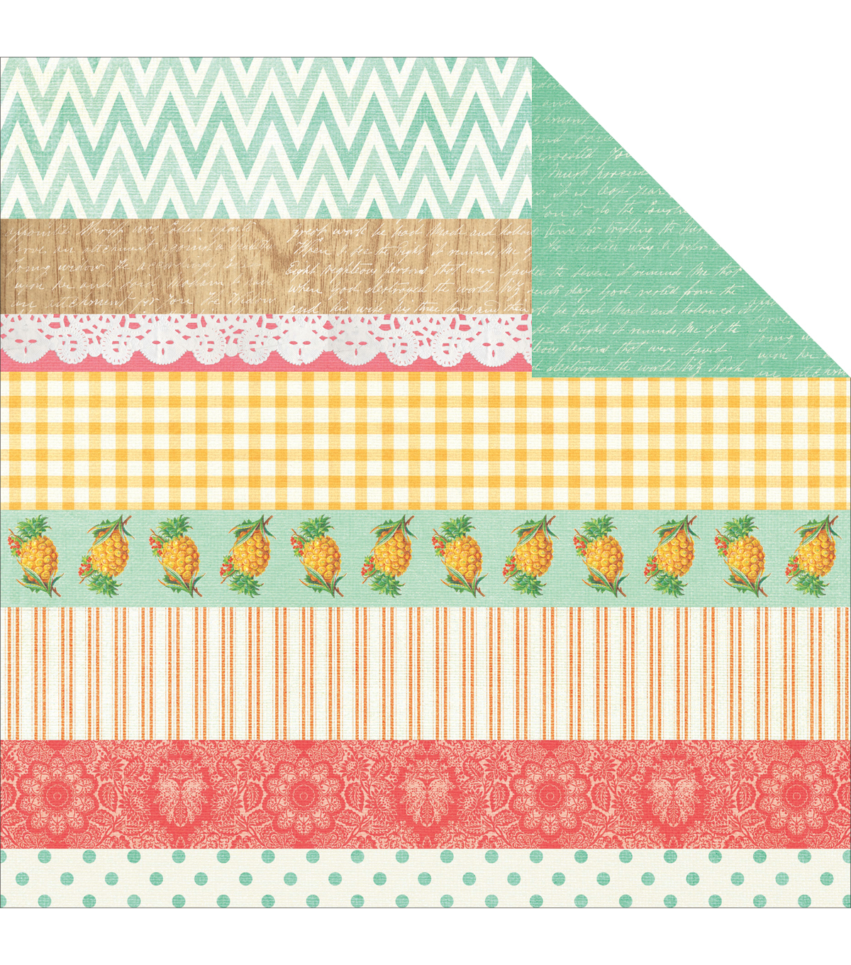 Tropical Punch Double-Sided Cardstock 12\u0022X12\u0022-Bubbles