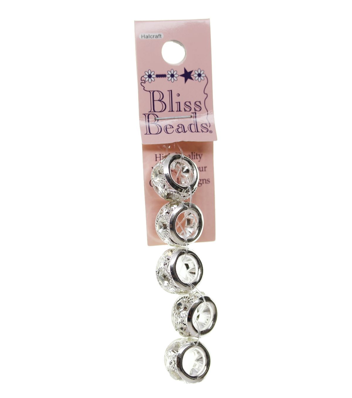 Bliss Beads Silver Plated Crystal Rondel