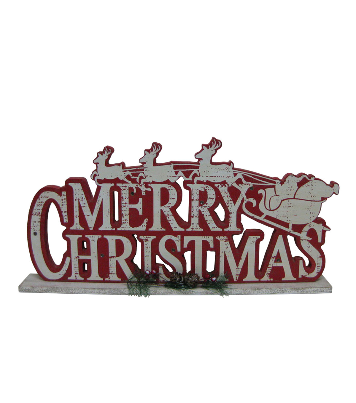 Maker\u0027s Holiday LED Table Decor-Merry Christmas