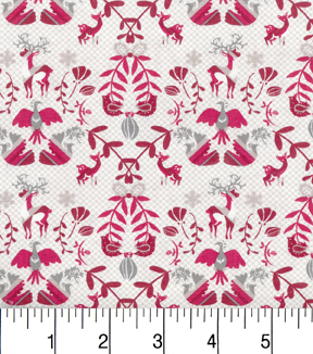 Maker\u0027s Holiday Cotton Fabric 43\u0022-Deers and Birds