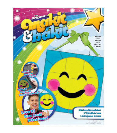 Makit & Bakit® Deluxe Sun Catcher Kit-Emoji Blushing