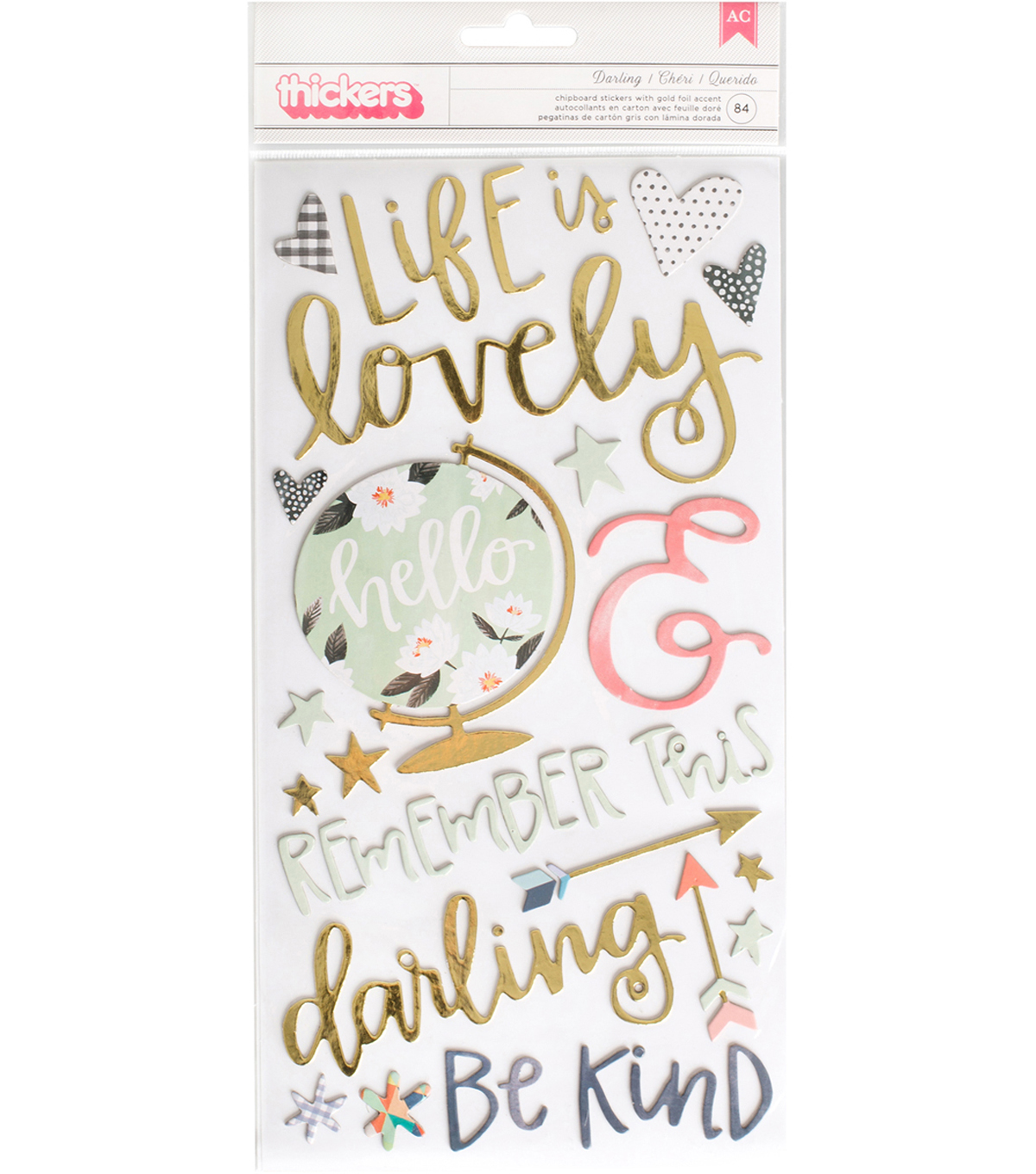 "Hazelwood Thickers Accent Stickers 5.5""X12""-Darling/Chipboard"