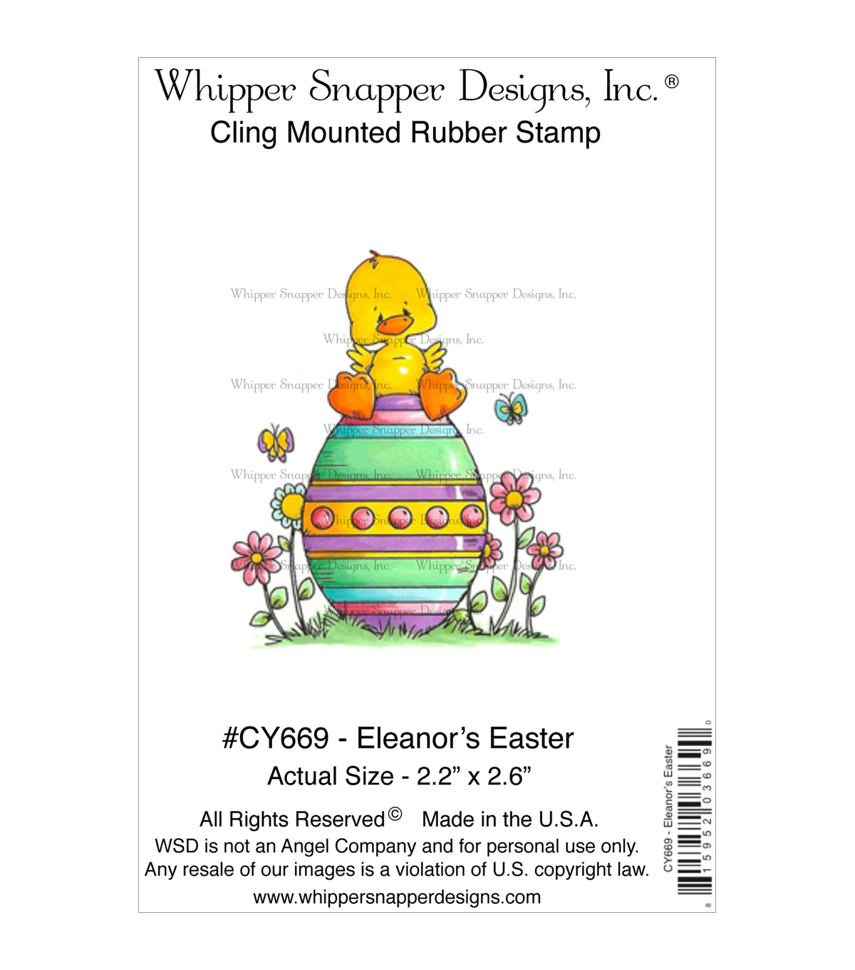 Whipper Snapper Designs Cling Stamp-Eleanor's Easter