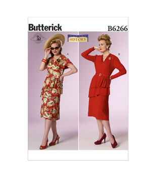 Butterick Pattern B6266-Misses\u0027 Costume-Teired Peplum Dresses