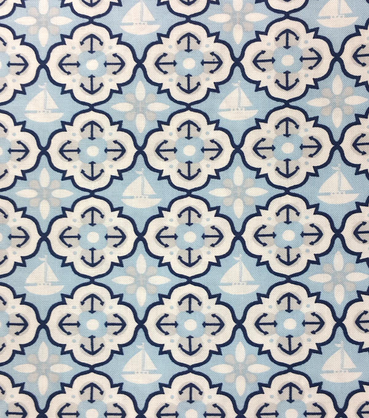 "Magic Moon™ Cotton Fabric 43""-Nautical Quatrefoil"