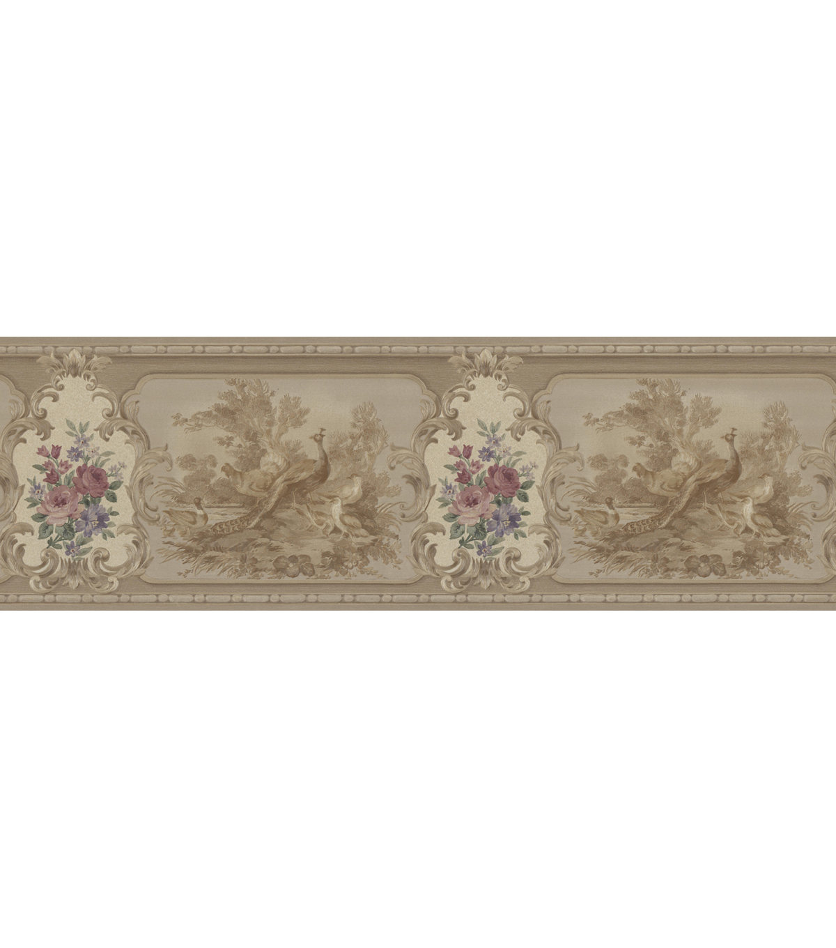 Kris Brass Aviary Cameo Fleur Wallpaper Border