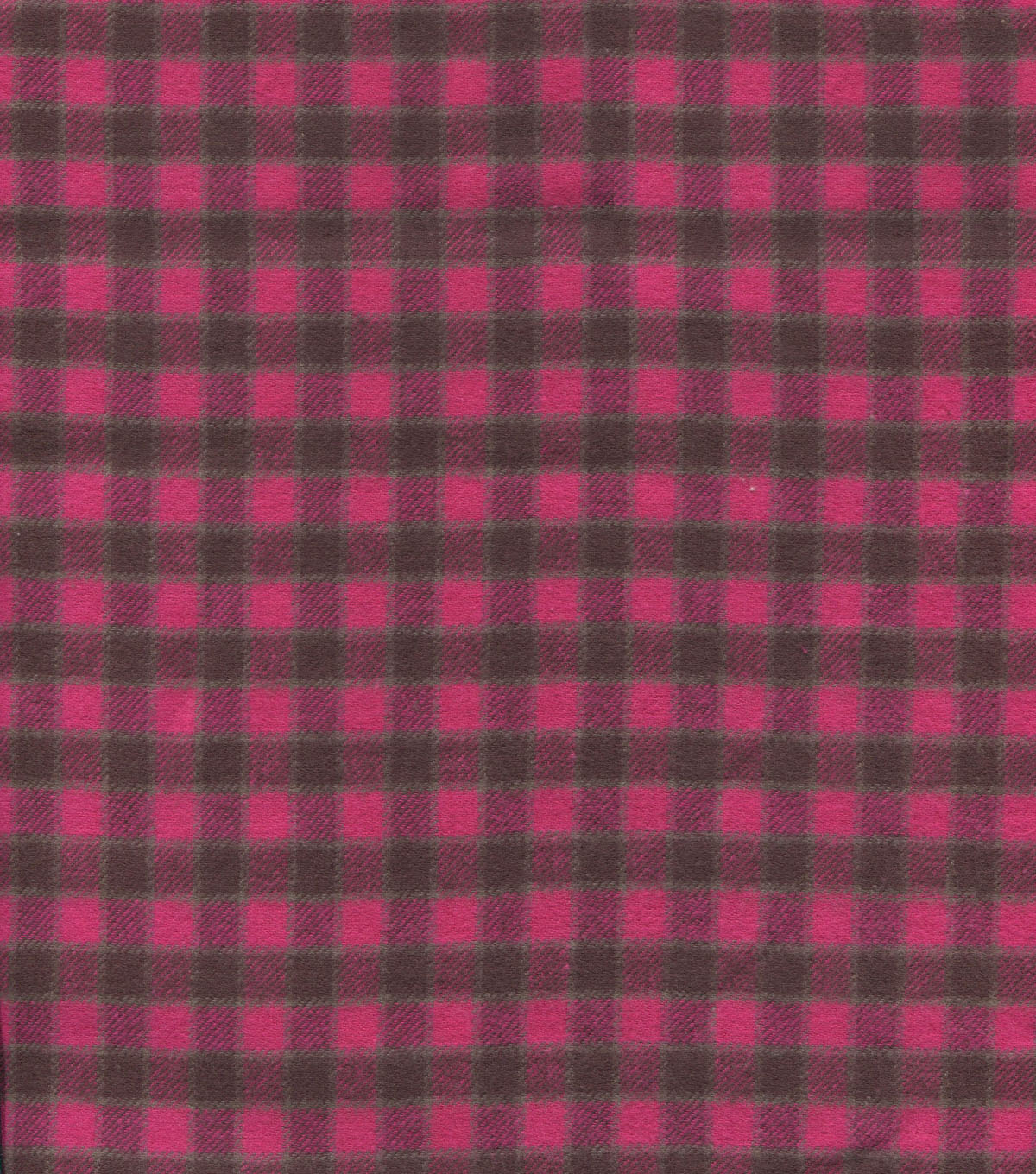 Flannel Shirting Cotton Pink Brown