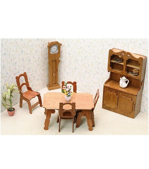 Greenleaf Dollhouse Furniture-Dining Room Set