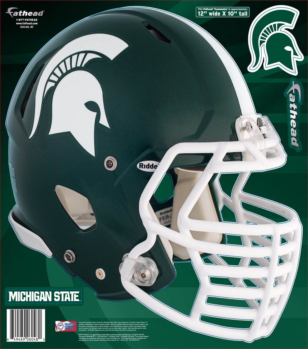 Michigan State University Spartans Fat Head Wall Decal-Helmet