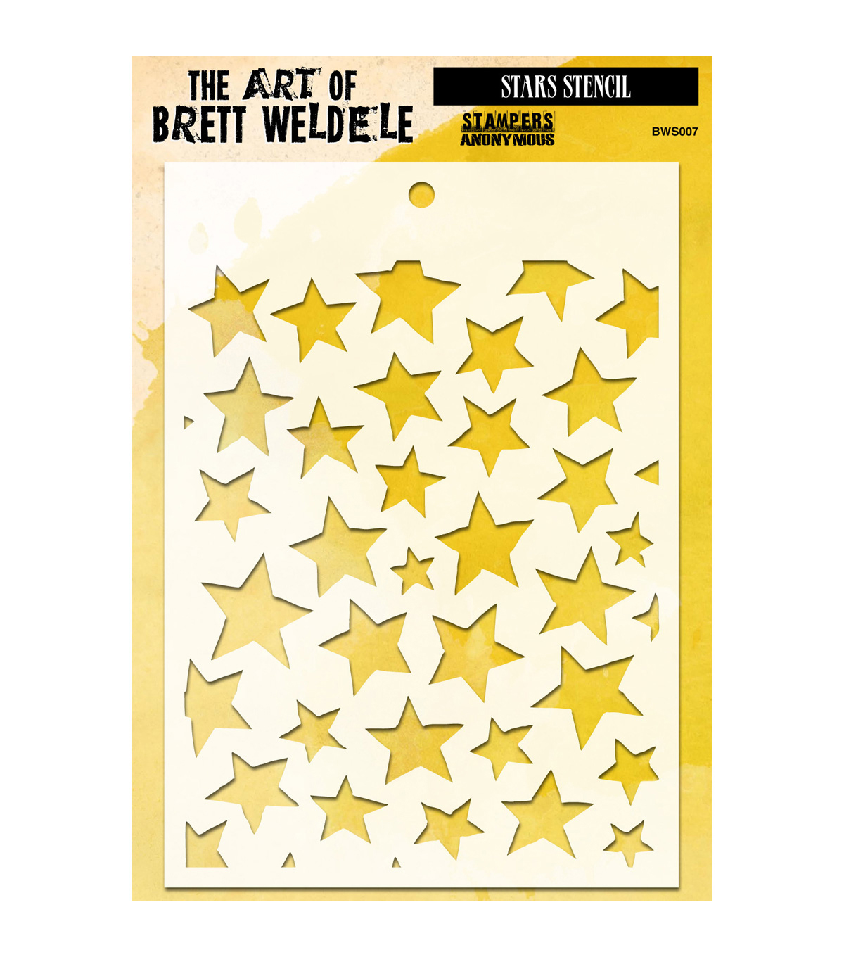 Stampers Anonymous® The Art Of Brett Weldele Stencil-Stars
