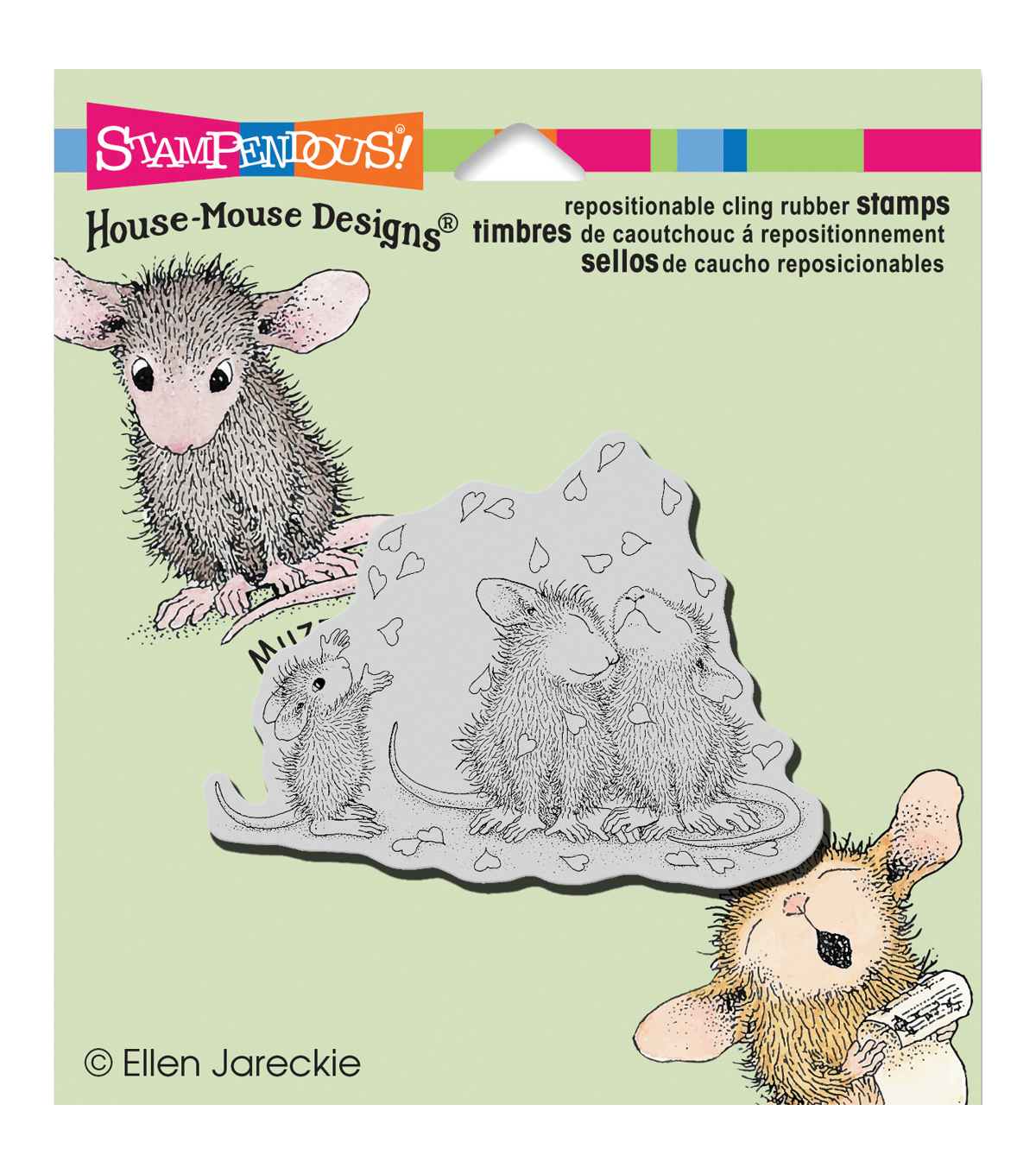 Stampendous® House Mouse Cling Stamp-Shower Of Love