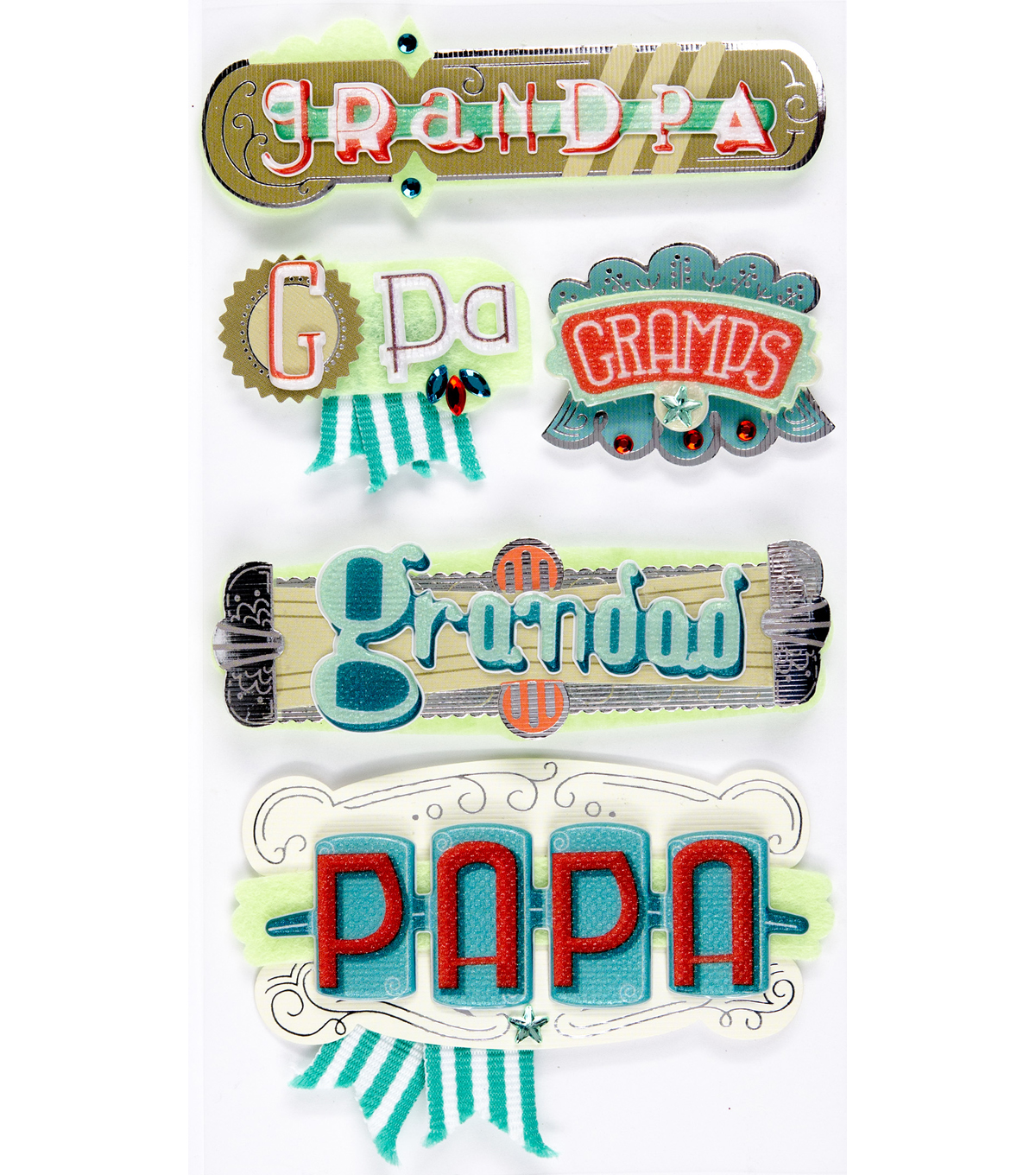Jolee's Boutique® Stickers-Grandpa Words
