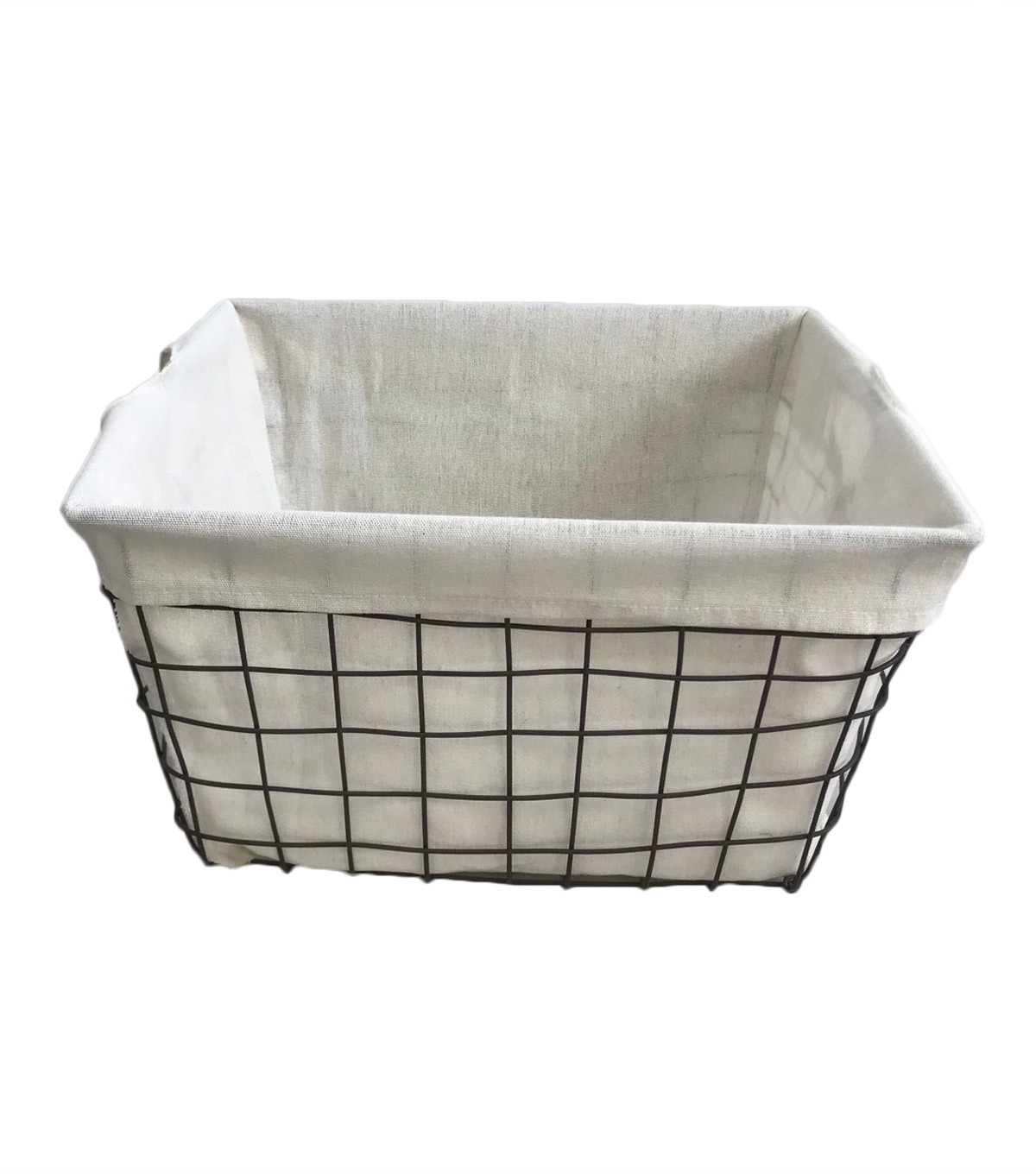 Organizing Essentials™ 16x14 Wire Basket with Ivory Liner