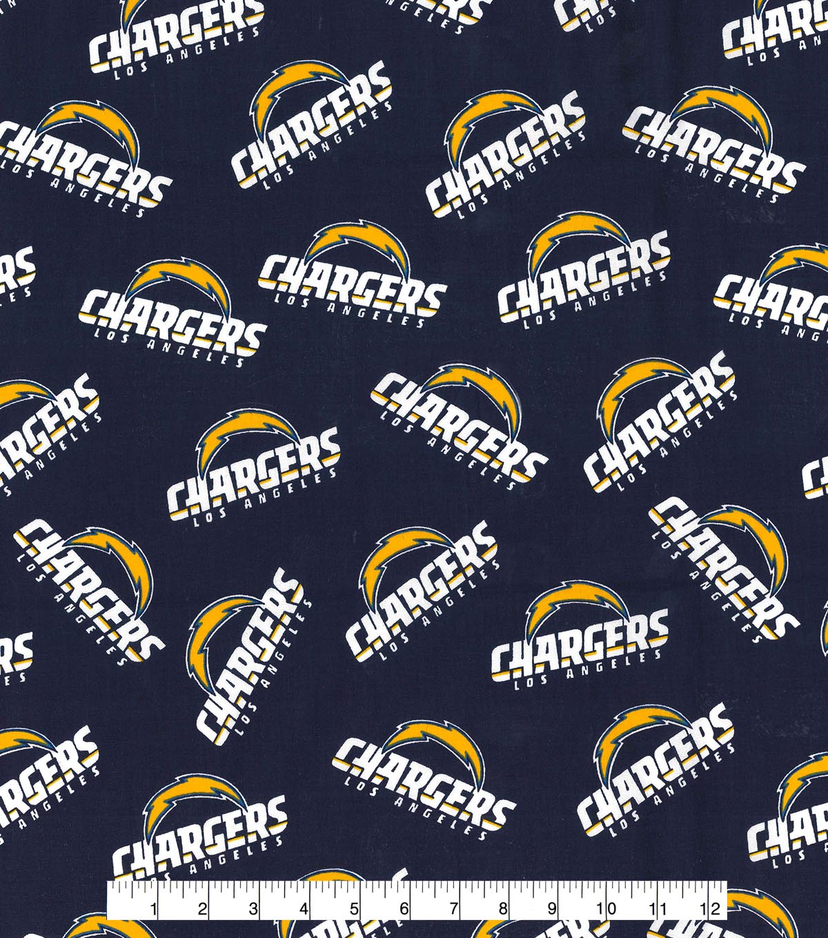 Los Angeles Chargers Cotton Fabric 58\u0022-Logo