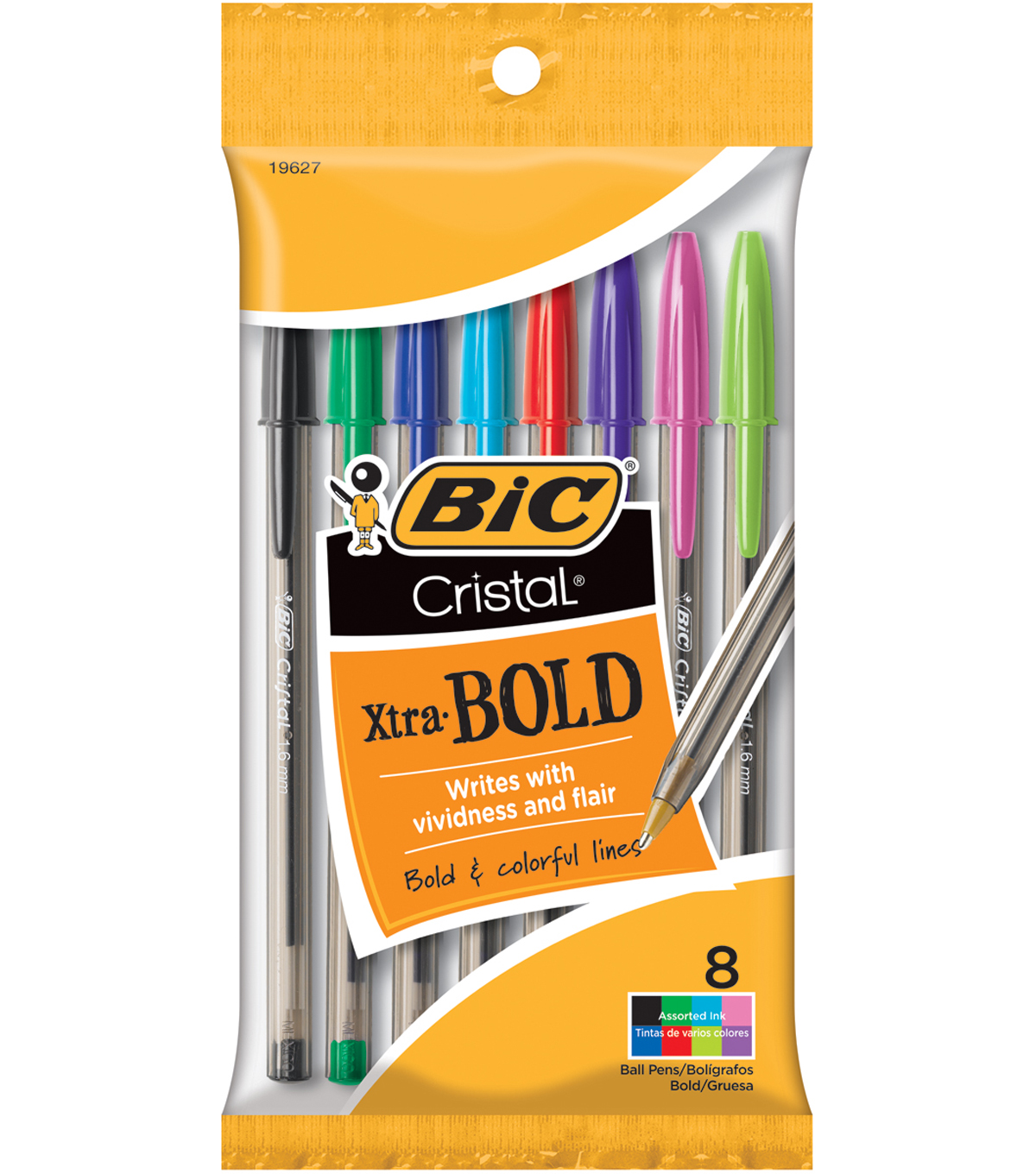 BIC Cristal Xtra Bold Pens-Fashion Assorted Barrels