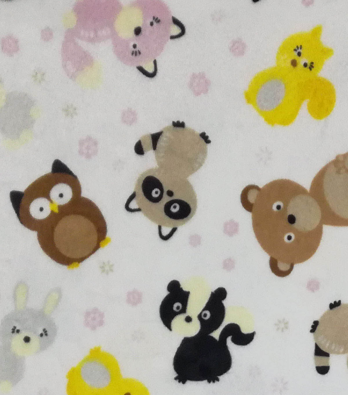 Soft & Comfy Fleece Fabric 57\u0022-Baby Woodland Creatures
