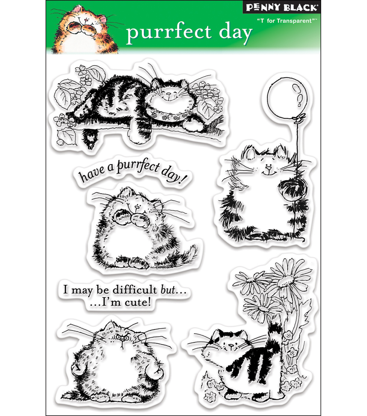 Penny Black Clear Stamps 5\u0022X7.5\u0022 Sheet-Purrfect Day