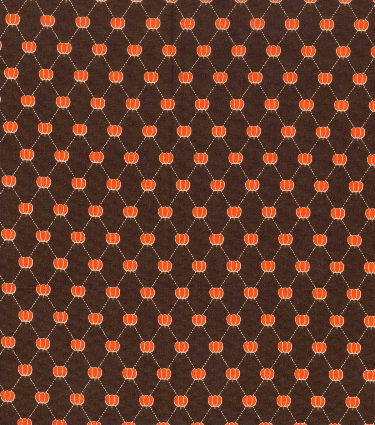 Holiday Showcase™ Harvest Cotton Fabric 43\u0022-Pumpkin Diamonds