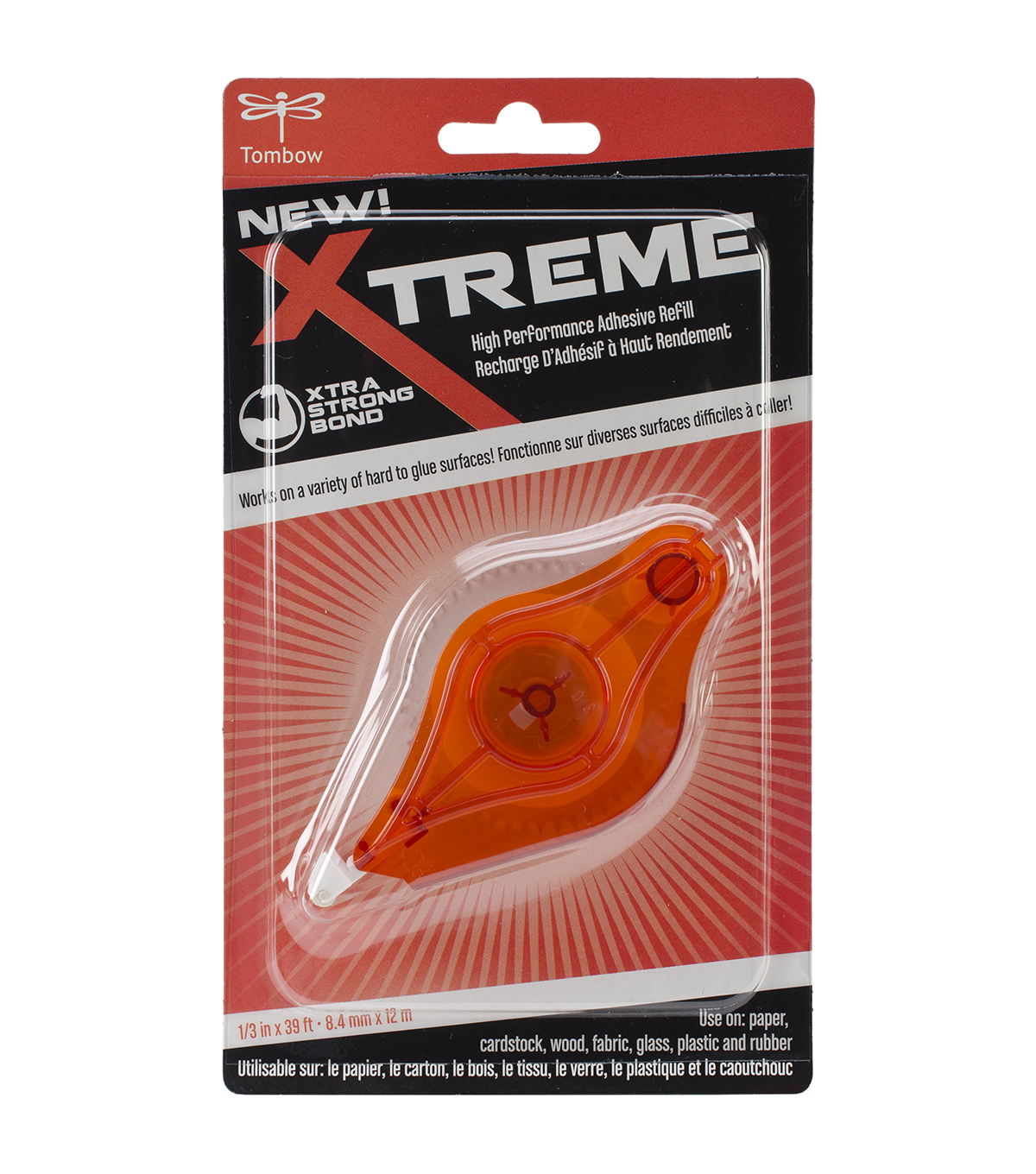 Xtreme Adhesive Tape Runner Refill-.3\u0022X472\u0022, For Use In 62127
