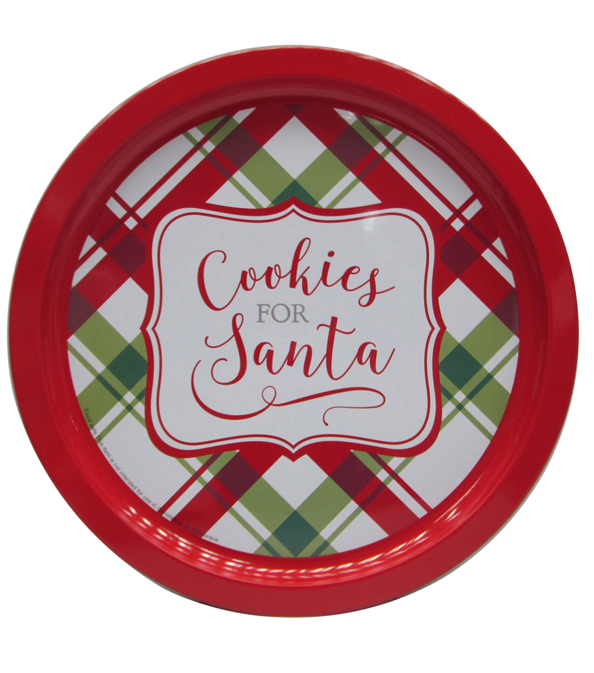 Maker\u0027s Holiday Cookie Platter Tin-Cookies for Santa