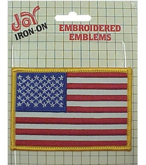 American Flag Applique 2-1/2\u0022X3-1/2\u0022-Iron-On