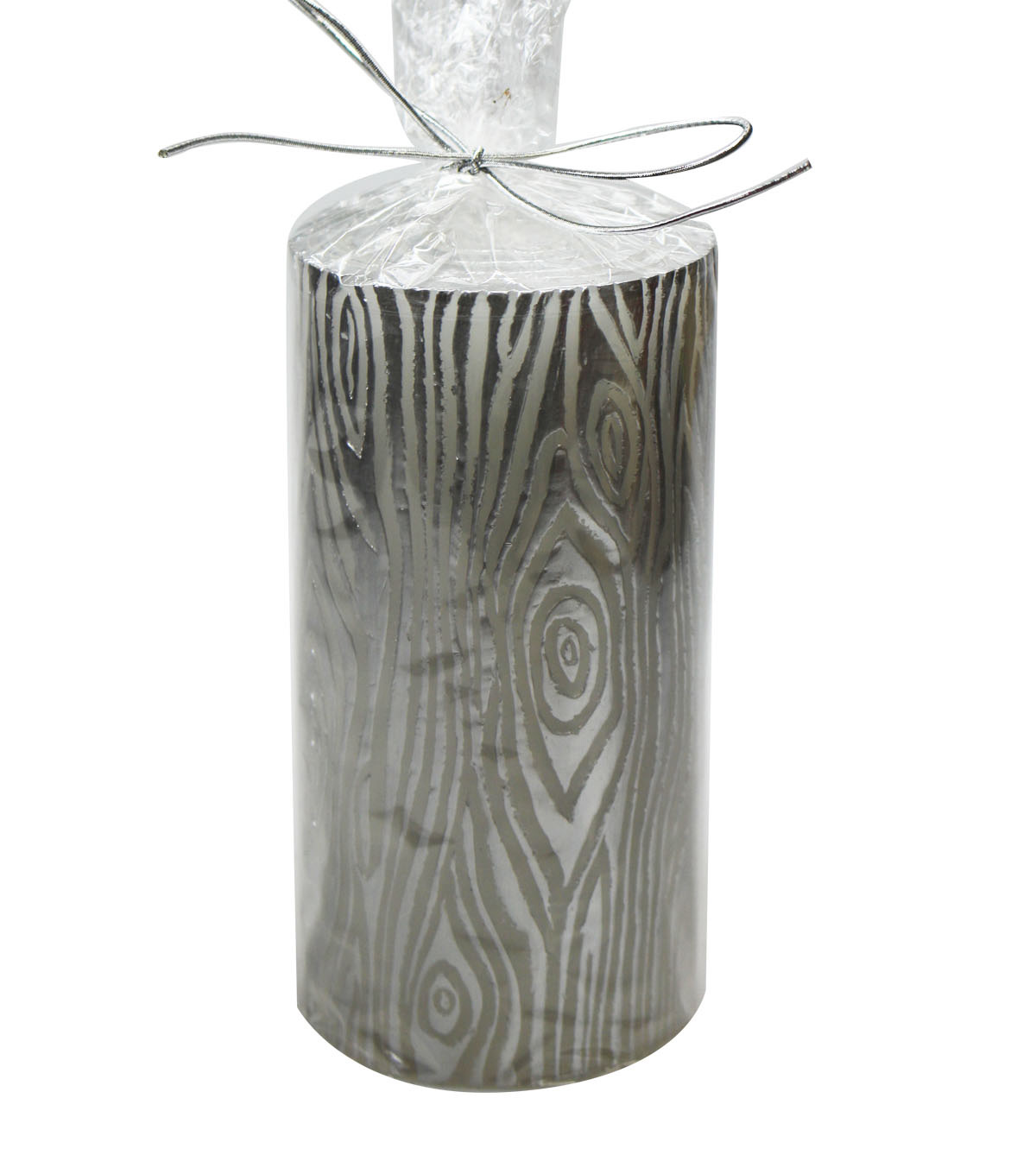 Maker\u0027s Holiday Christmas 3\u0027\u0027x6\u0027\u0027 Birch Pillar Candle-Silver