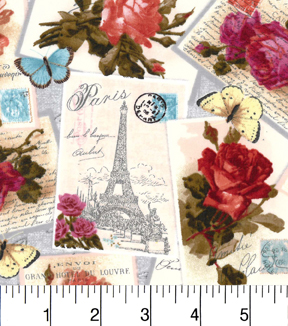 Buttercream™ Cosette Cotton Fabric 43\u0022-Paris Postcard