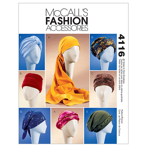 McCall's Misses Headgear-M4116