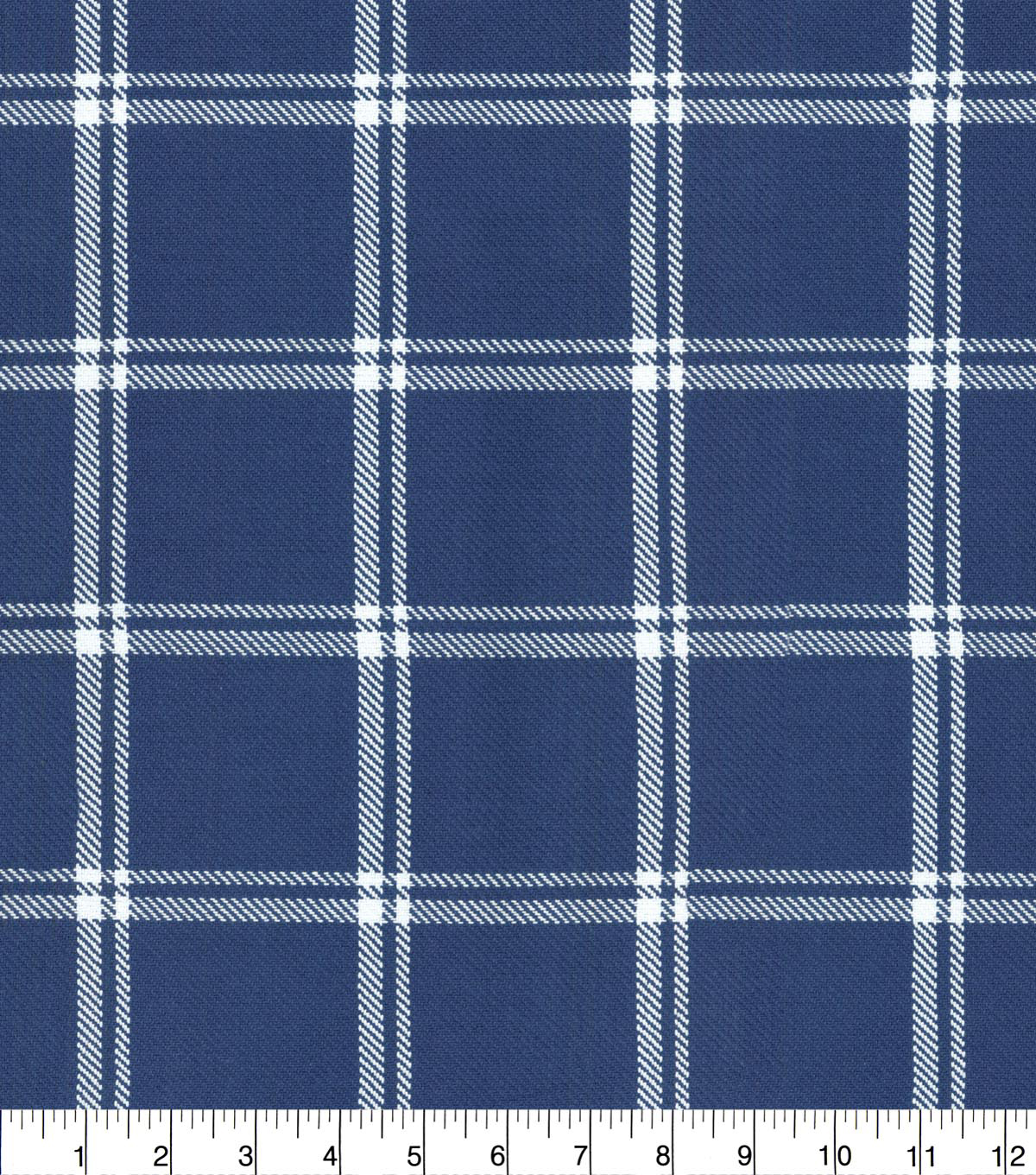 Waverly Upholstery Fabric 54\u0027\u0027-Marine Bloomsbury Plaid