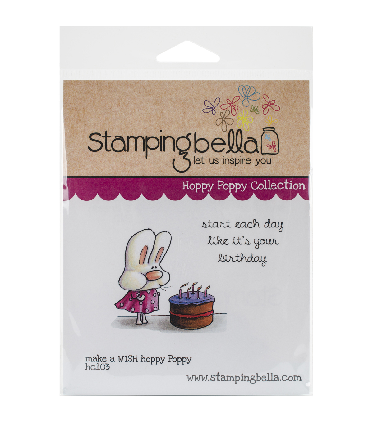 Stamping Bella Hoppy Poppy Make A Wish Cling Stamp