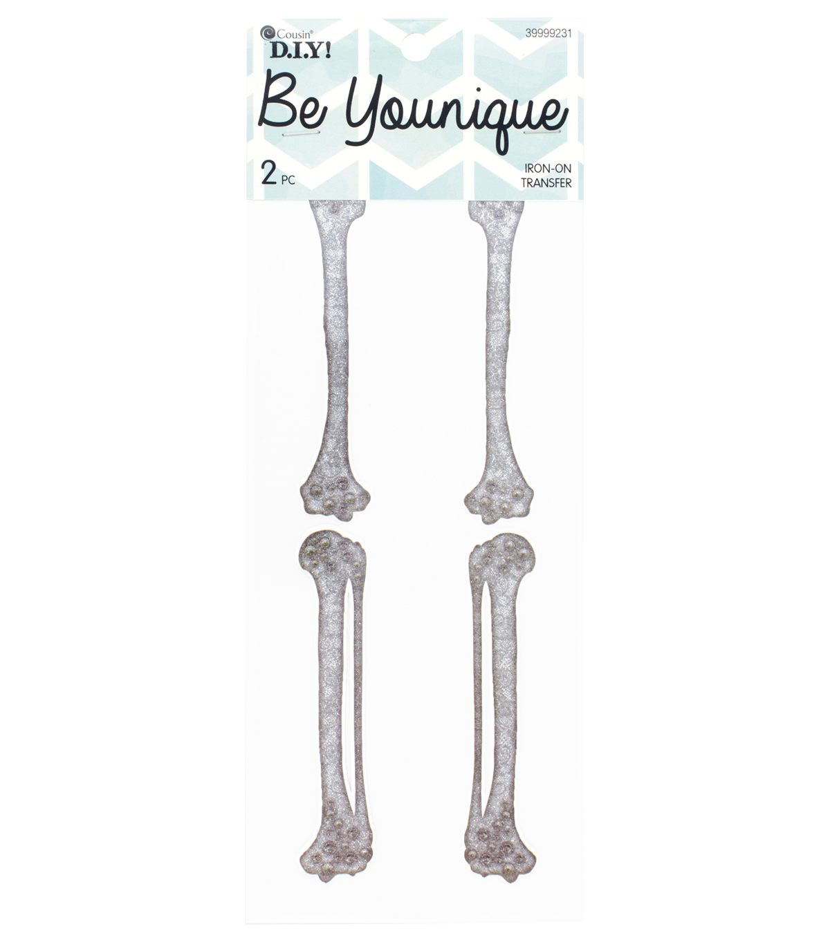 Cousin® DIY Be Younique 2 Pack Sleeve Iron-On Transfers-Lace Bones