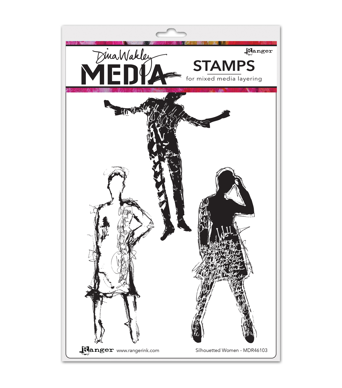 Ranger Dina Wakley Silhouetted Women Media Cling Stamps