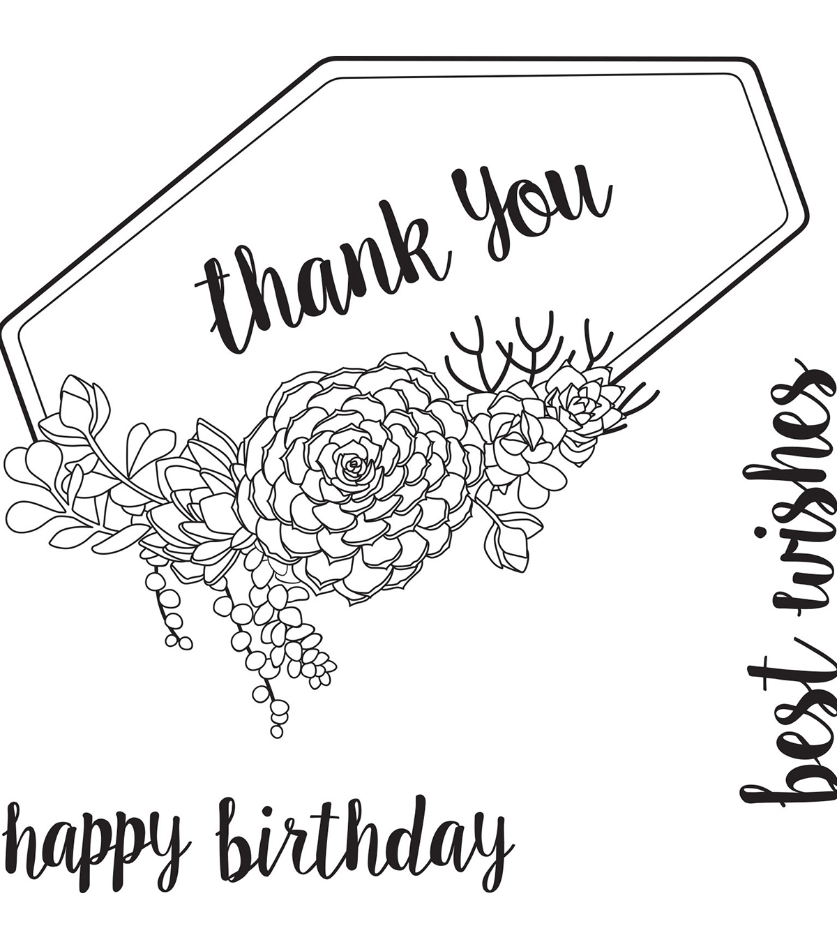 Sizzix® Framelits™ Dies with Stamps-Succulent Sentiments