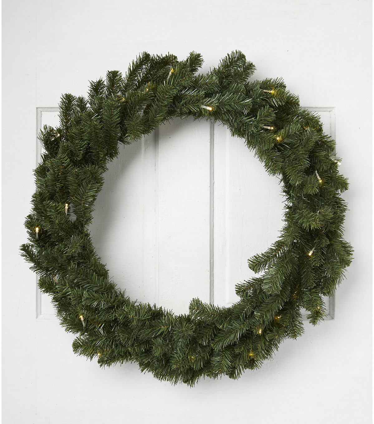 Blooming Holiday Christmas 30\u0027\u0027 Prelit PVC Canadian Pine Wreath
