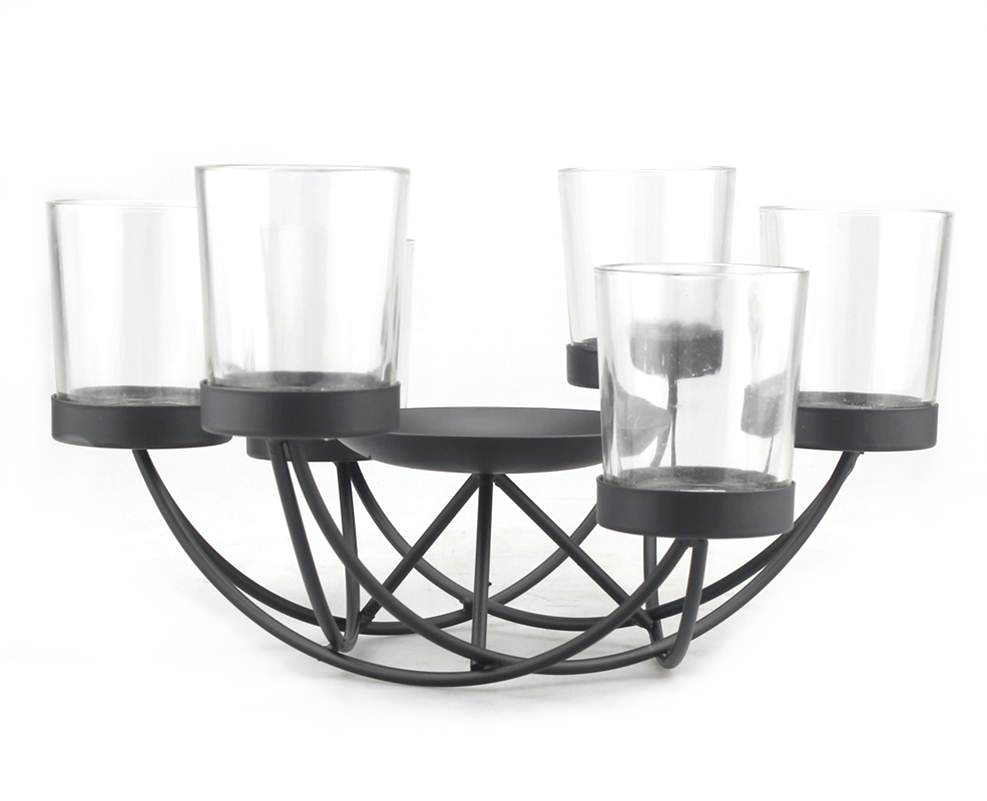 Hudson 43™ Candle&Light Collection 6 Tealight With Pillar Holder