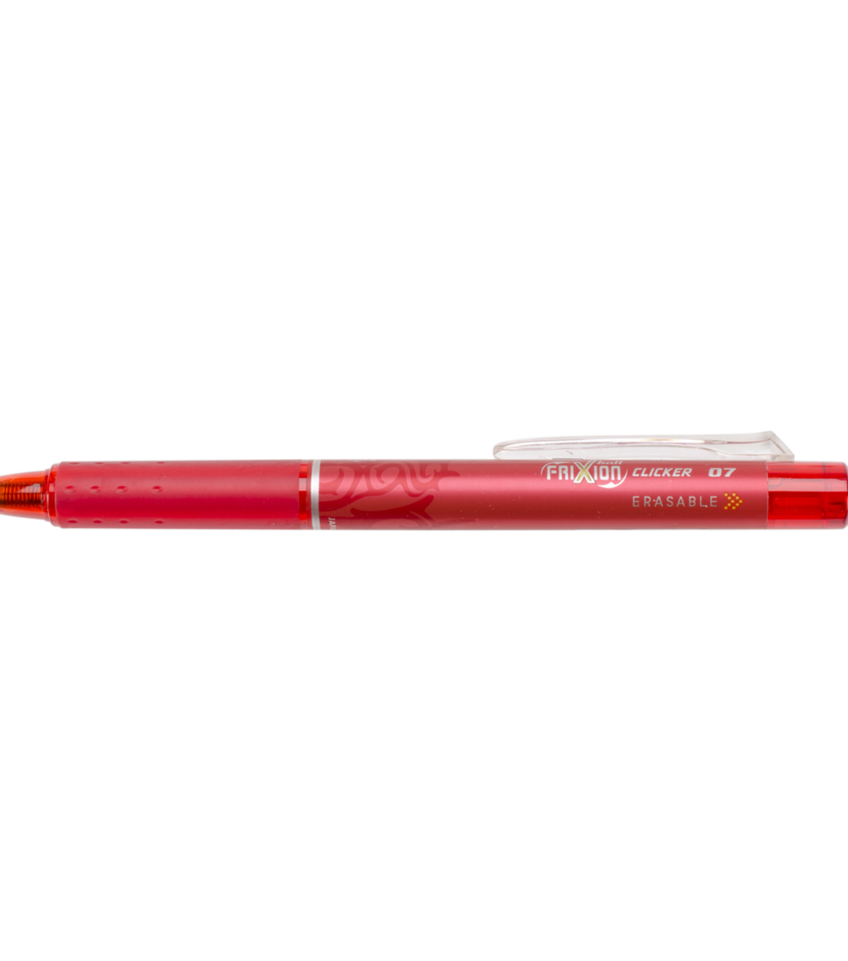 Pilot FriXion Fine Point Clicker Erasable Pen Open Stock-Red