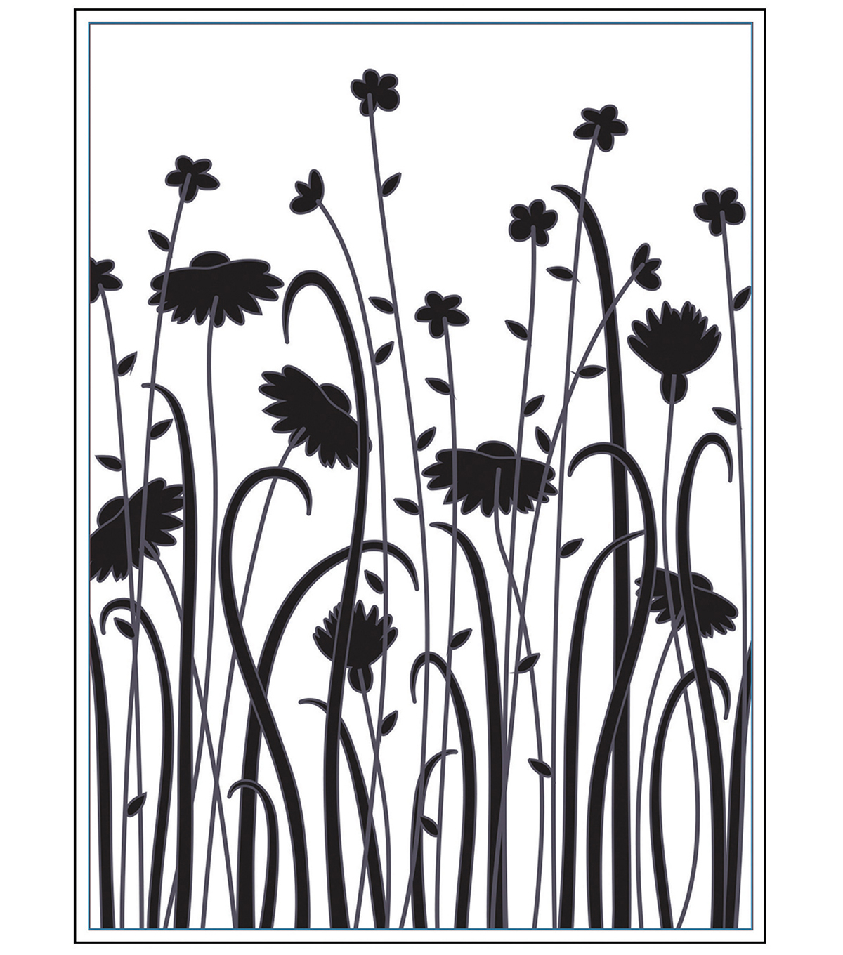 Embossing Folder 4.2\u0022X5.7\u0022-Dainty Wildflowers