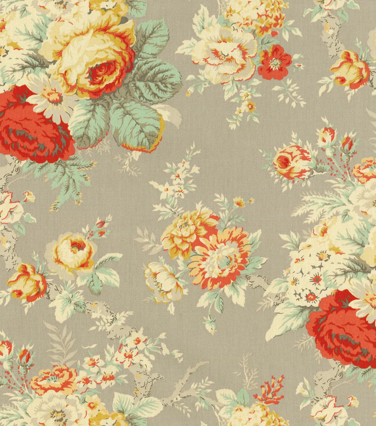Waverly Upholstery Fabric 54\u0022-Sanctuary Rose Clay
