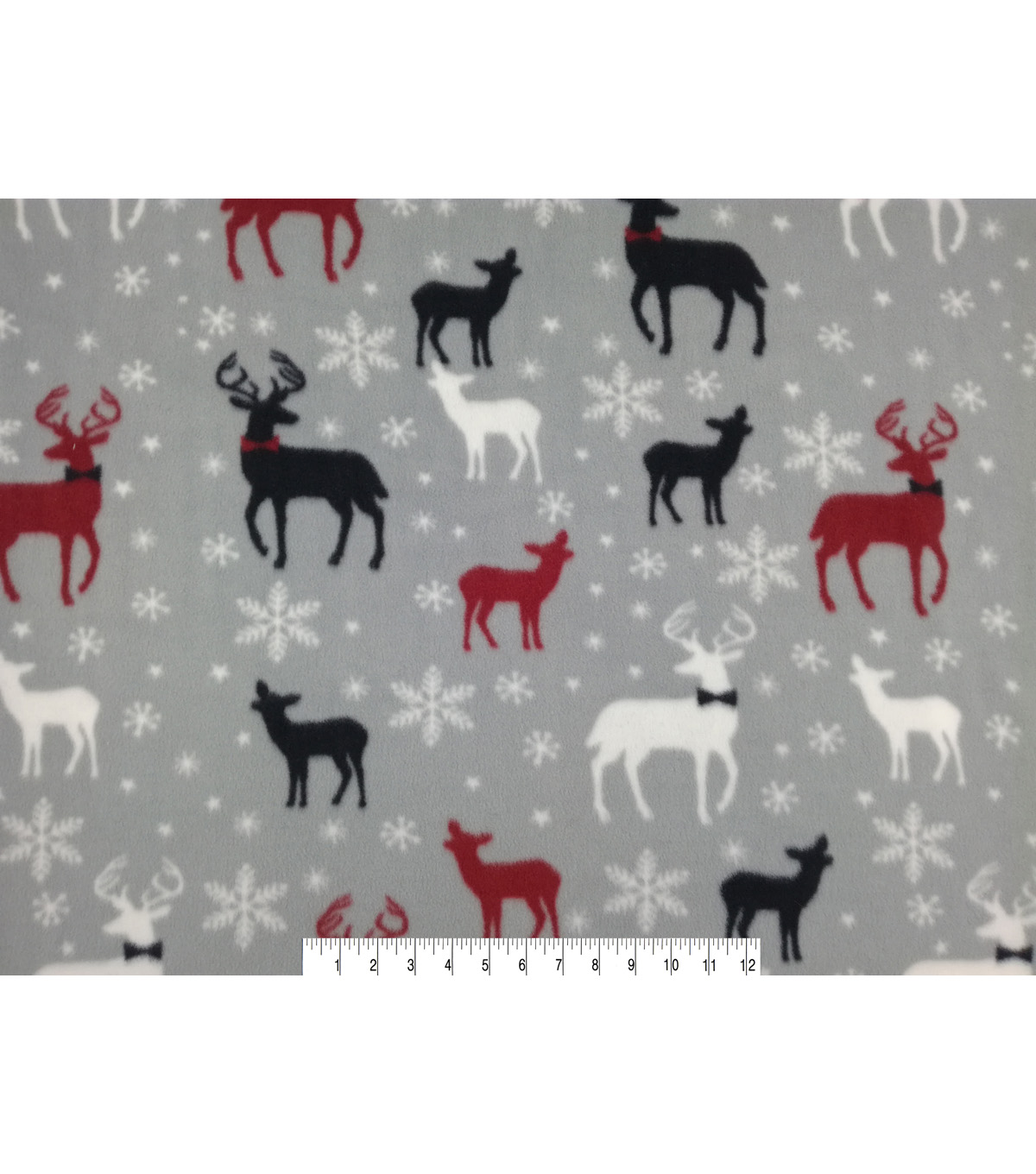 Anti-Pill Fleece Fabric 57\u0022-Bow Tie Deer