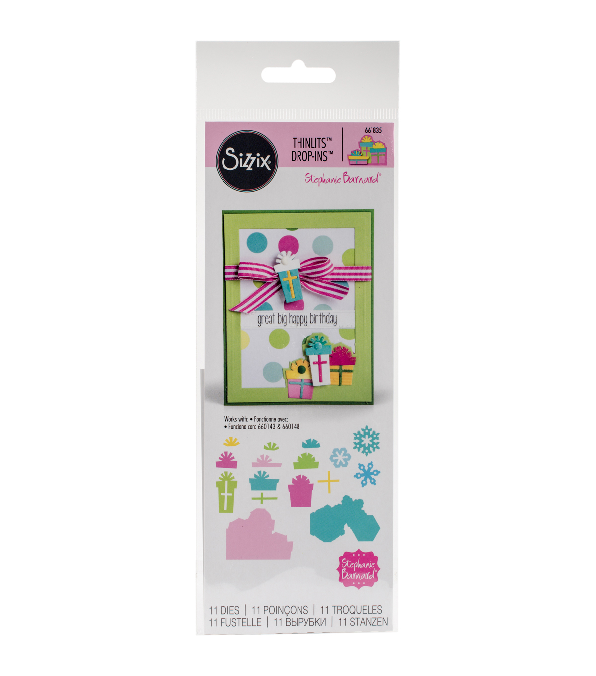 Sizzix® Thinlits™ 11 Pack Dies-Gifts Drop-Ins