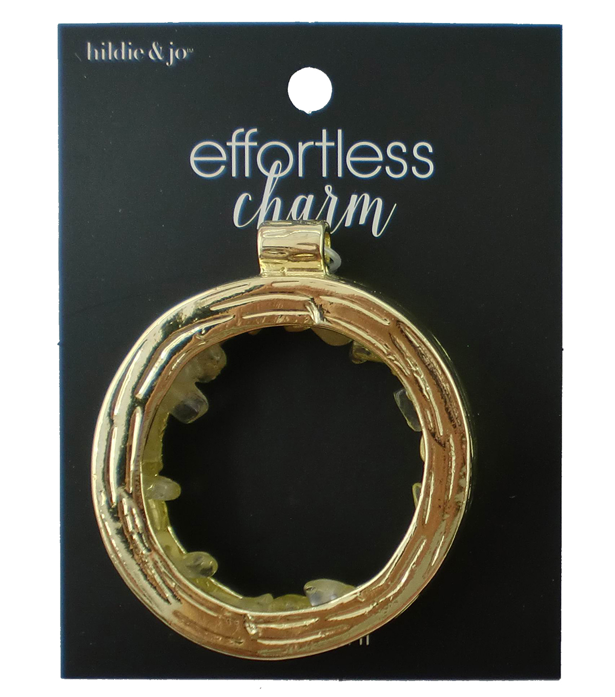 hildie & jo™ Effortless Charm Open Circle Gold Pendant