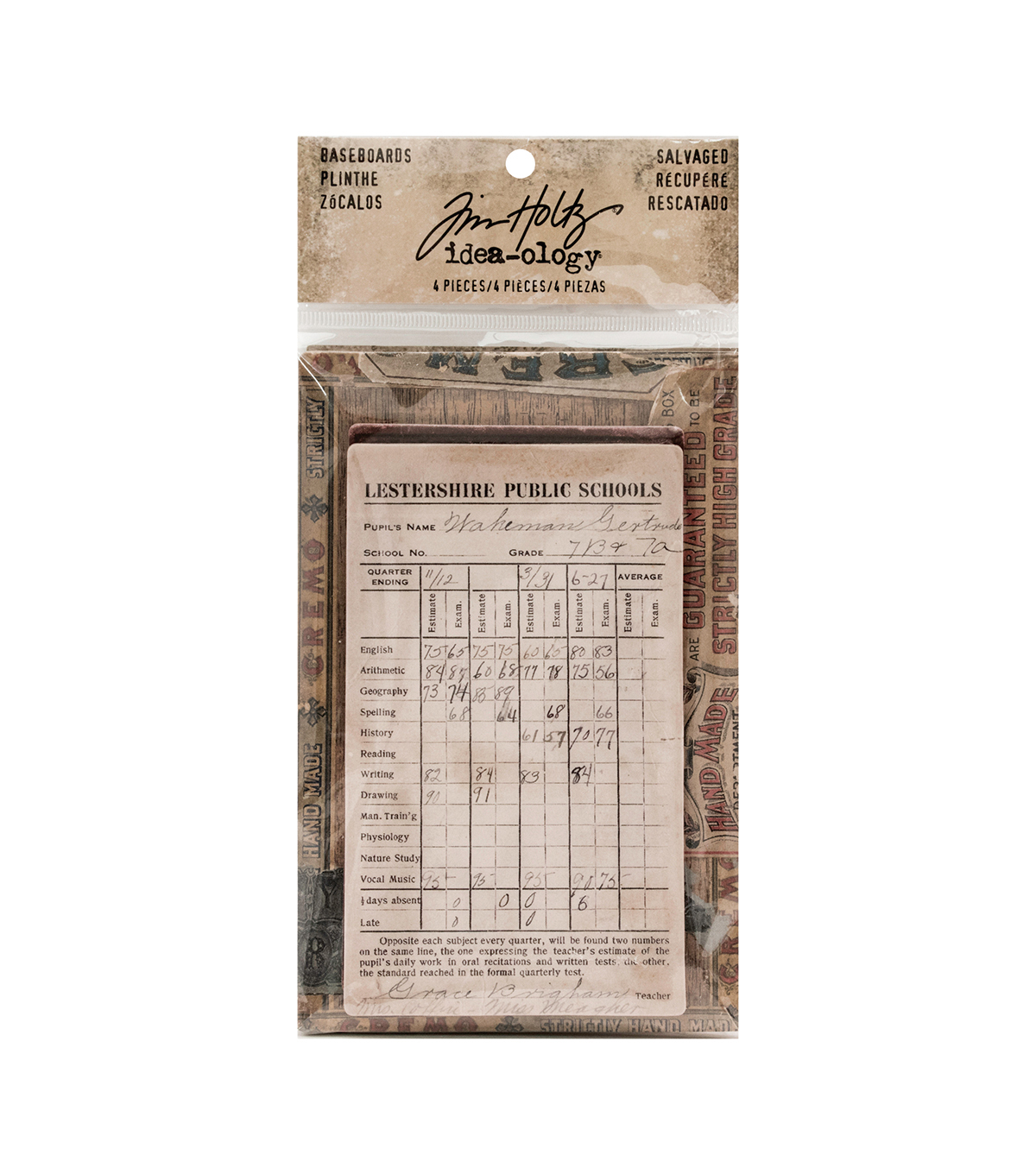 Tim Holtz® Idea-ology® Pack of 4 Salvaged Baseboards