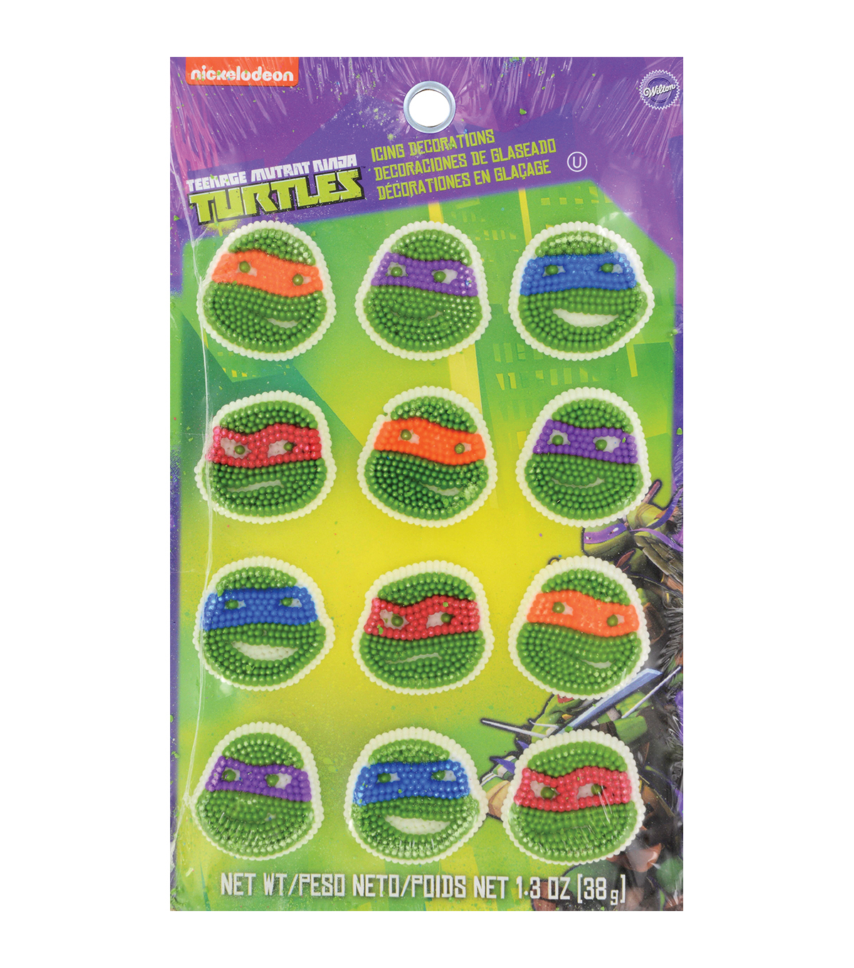Royal Icing Decorations 12/Pkg-Teenage Mutant Ninja Turtles
